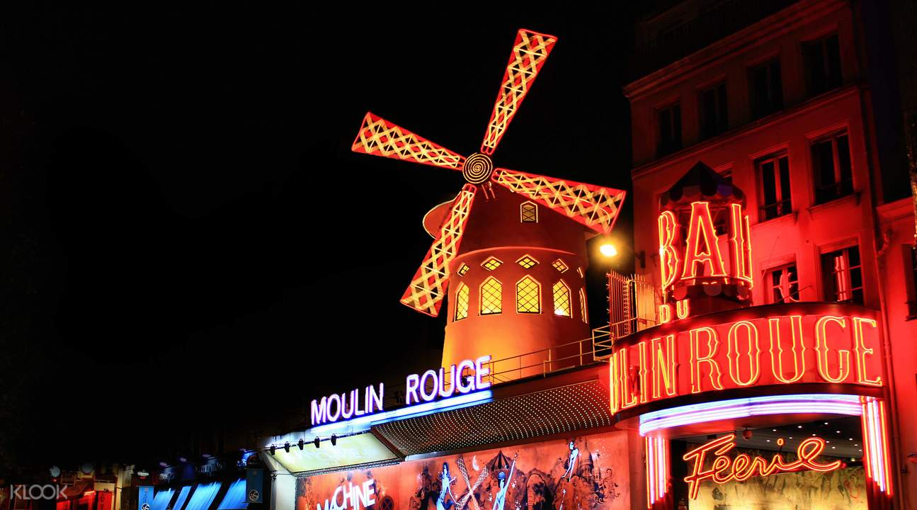 moulin rouge show ticket with round trip transfers in paris klook. Black Bedroom Furniture Sets. Home Design Ideas