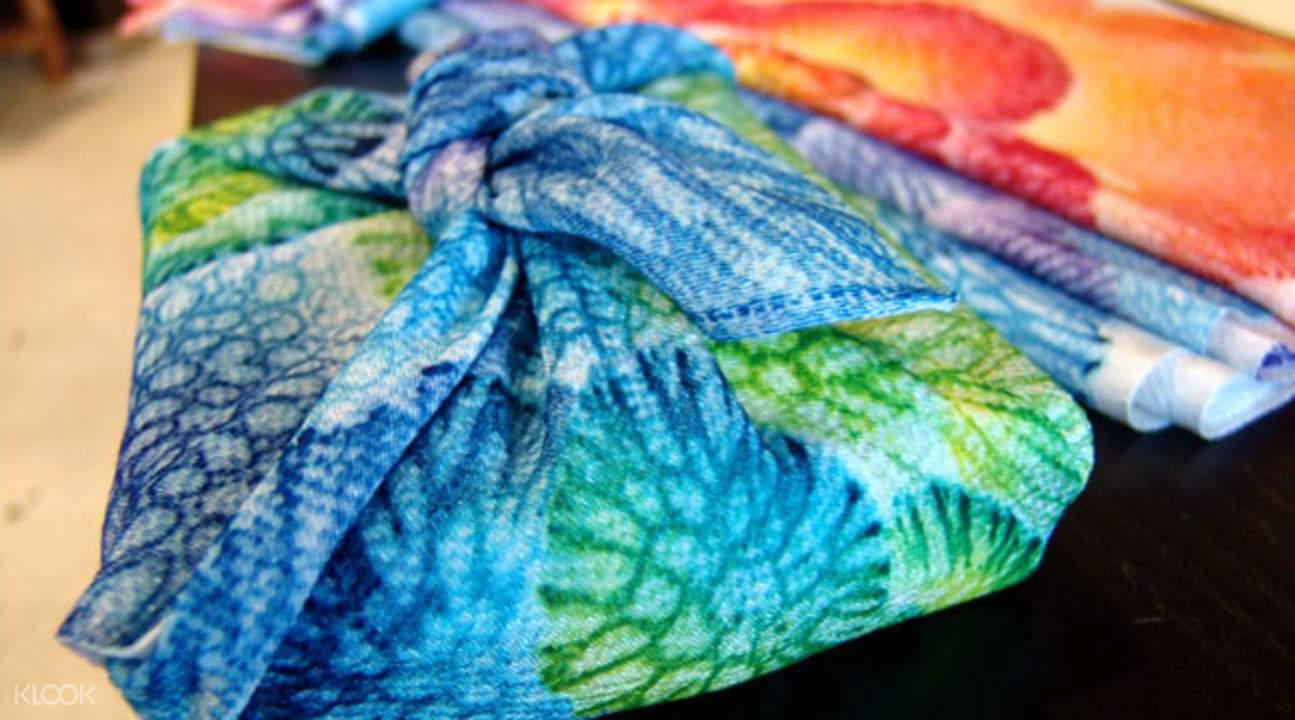 琉染图案的手巾包布