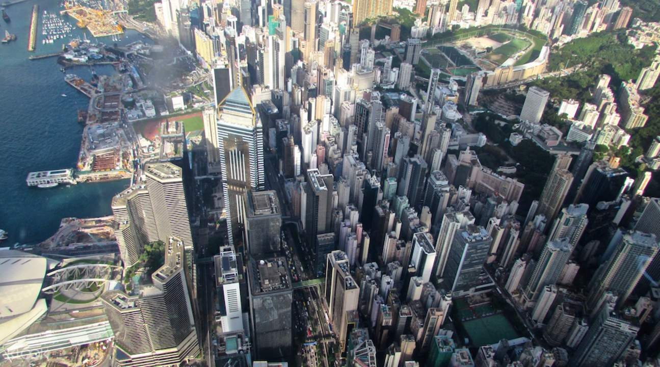View from Hong Kong helicopter tour