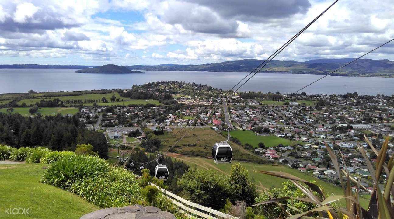 Panoramic views from Rotorua Skyline Gondola