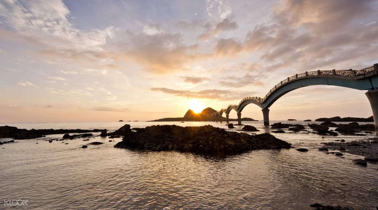 著名的三仙台日落景色