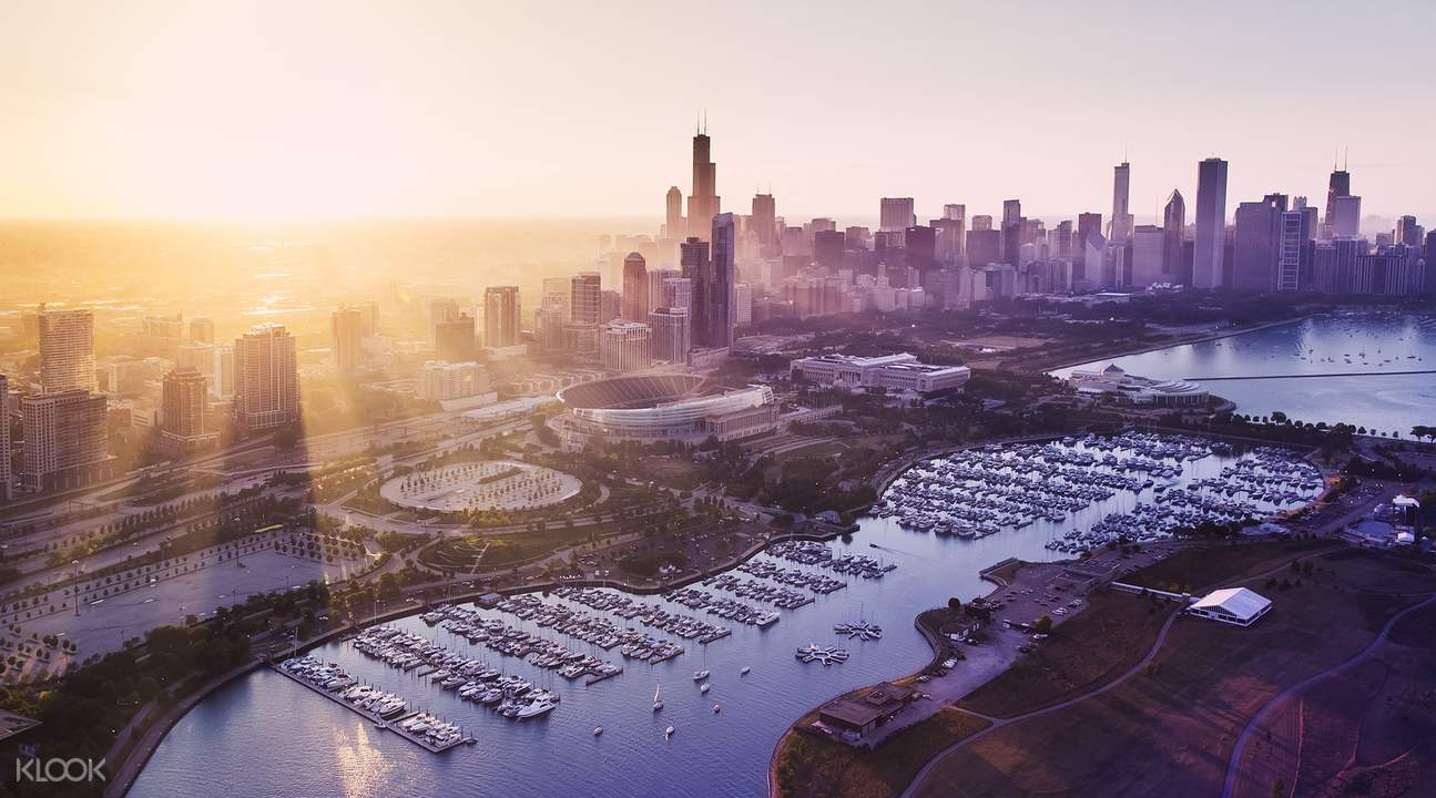 芝加哥夕阳