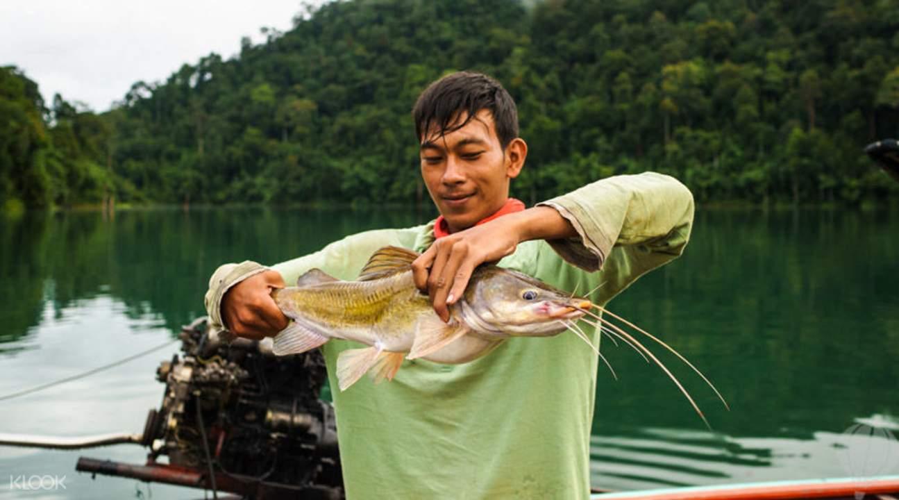 普吉岛淡水湖钓巨鱼