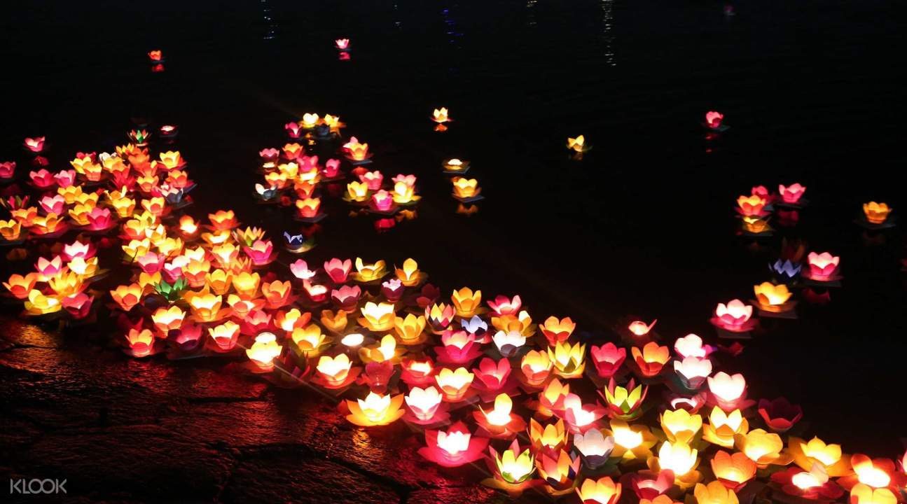 lanterns in the river