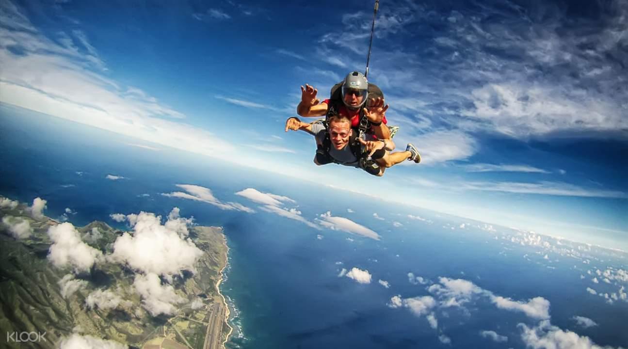 夏威夷歐胡島跳傘