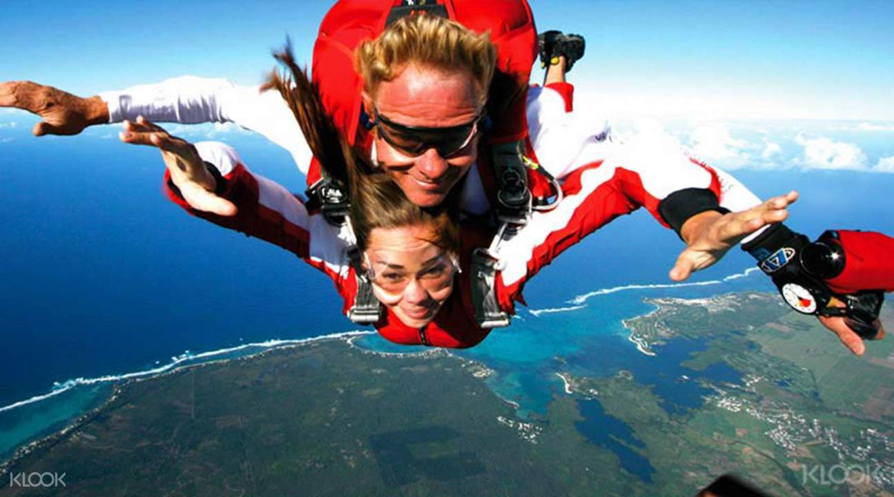 mauritius skydiving