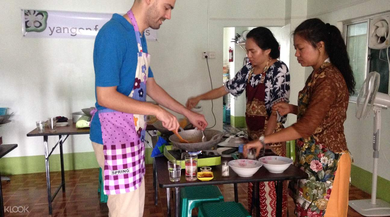 cooking class in yangon