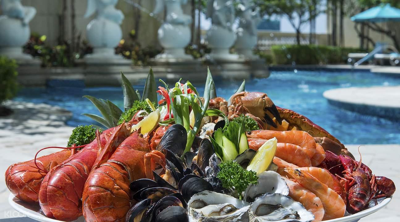索菲特酒店海风餐厅海鲜自助晚餐