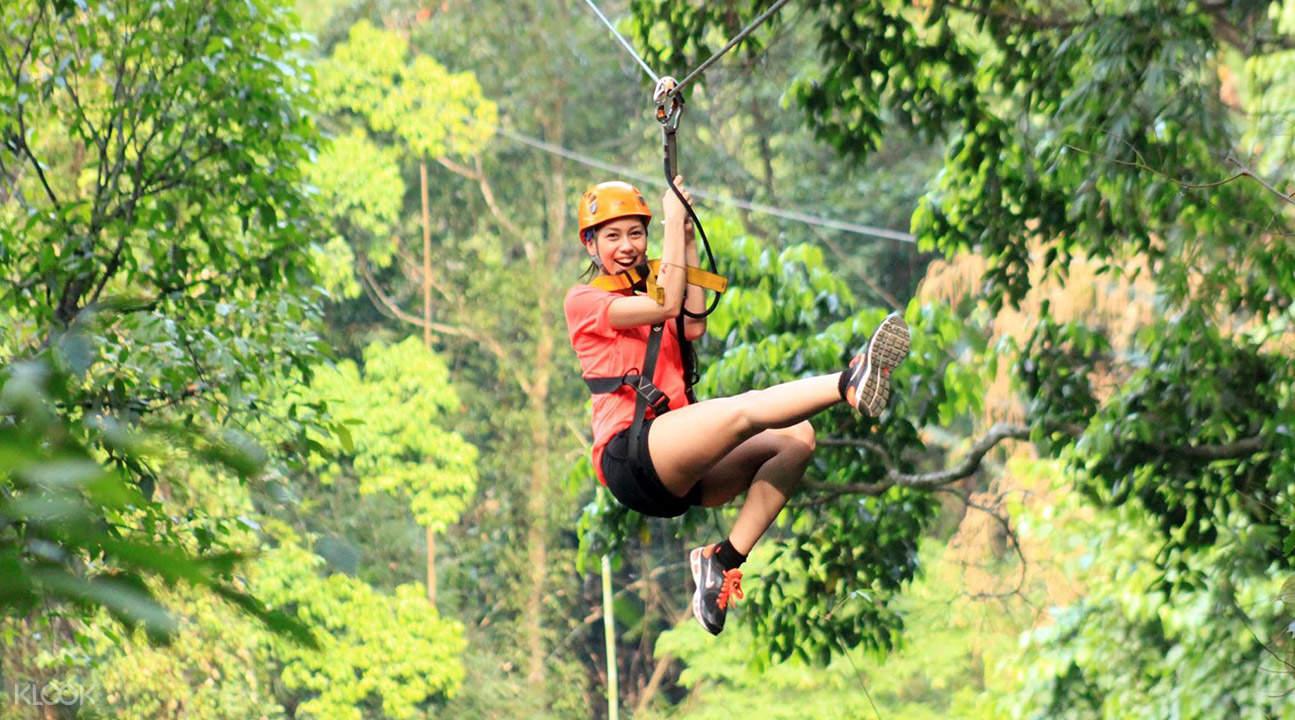 芭達雅長臂猿叢林飛躍