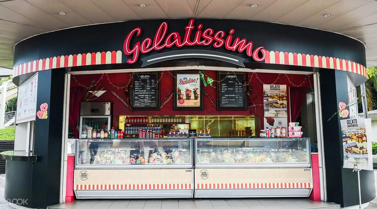 Exterior of Gelatissimo in Sentosa, Promenade and Orchard