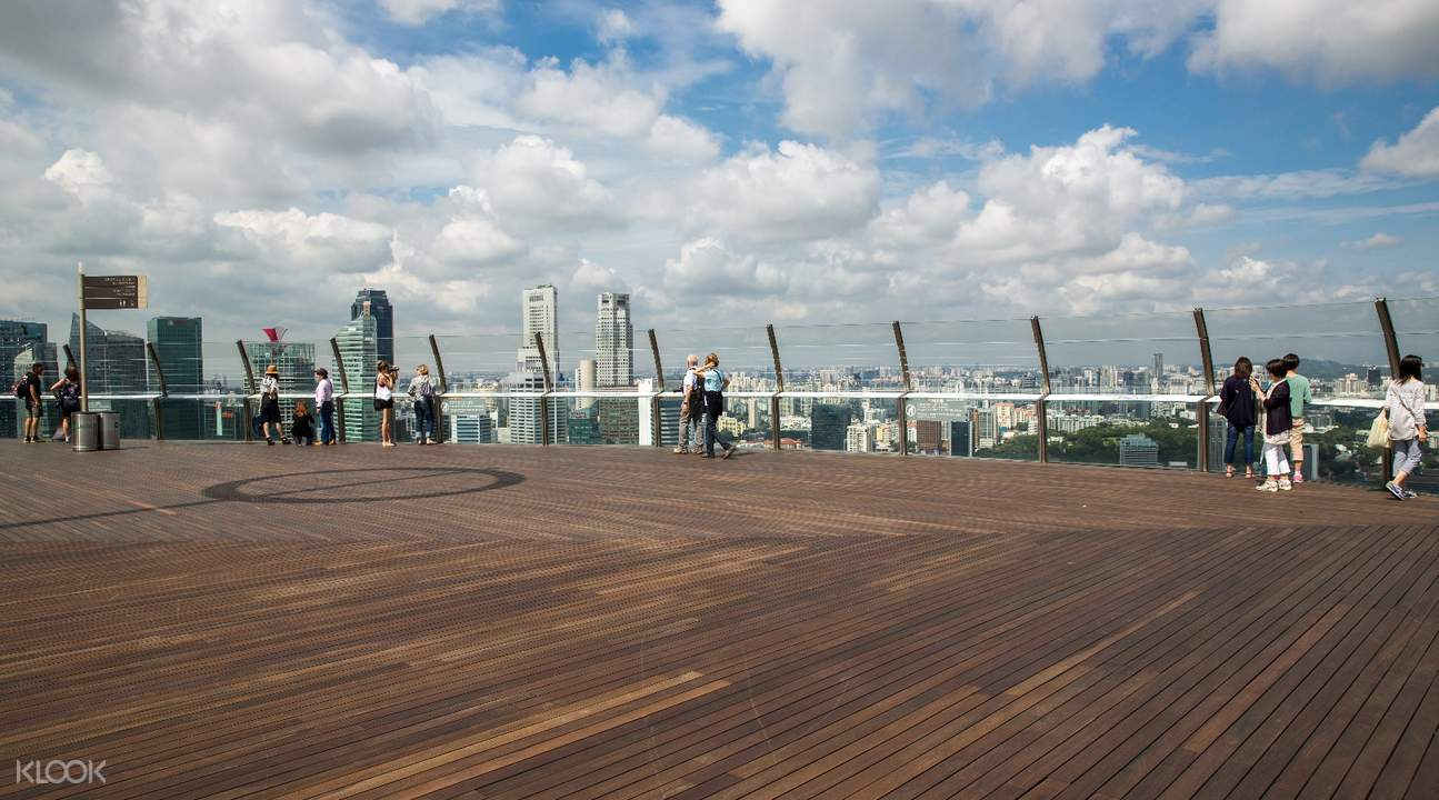 Tiket Masuk Pusat Pengamatan Skypark Observasi Marina Bay Sands