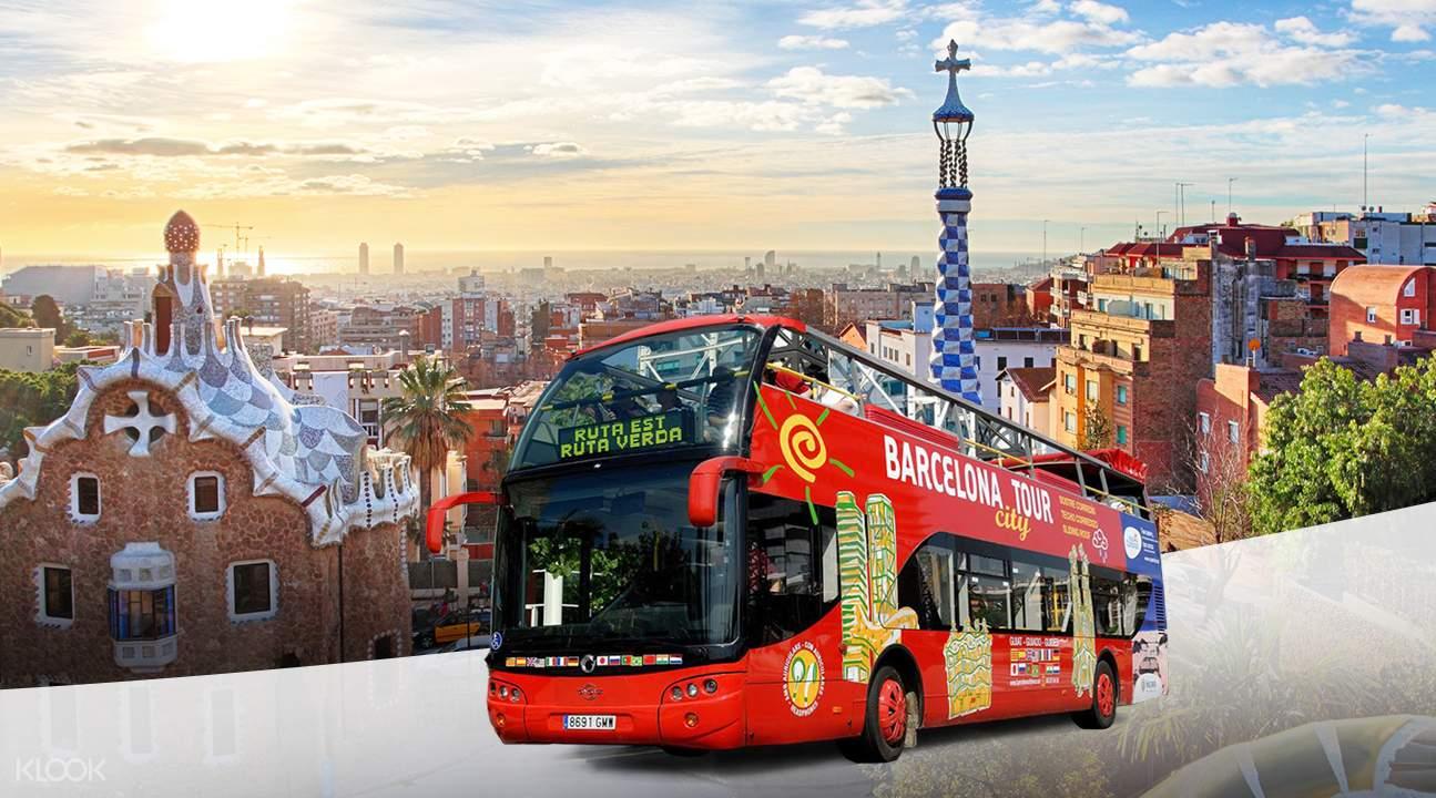 barcelona hop on hop off bus map