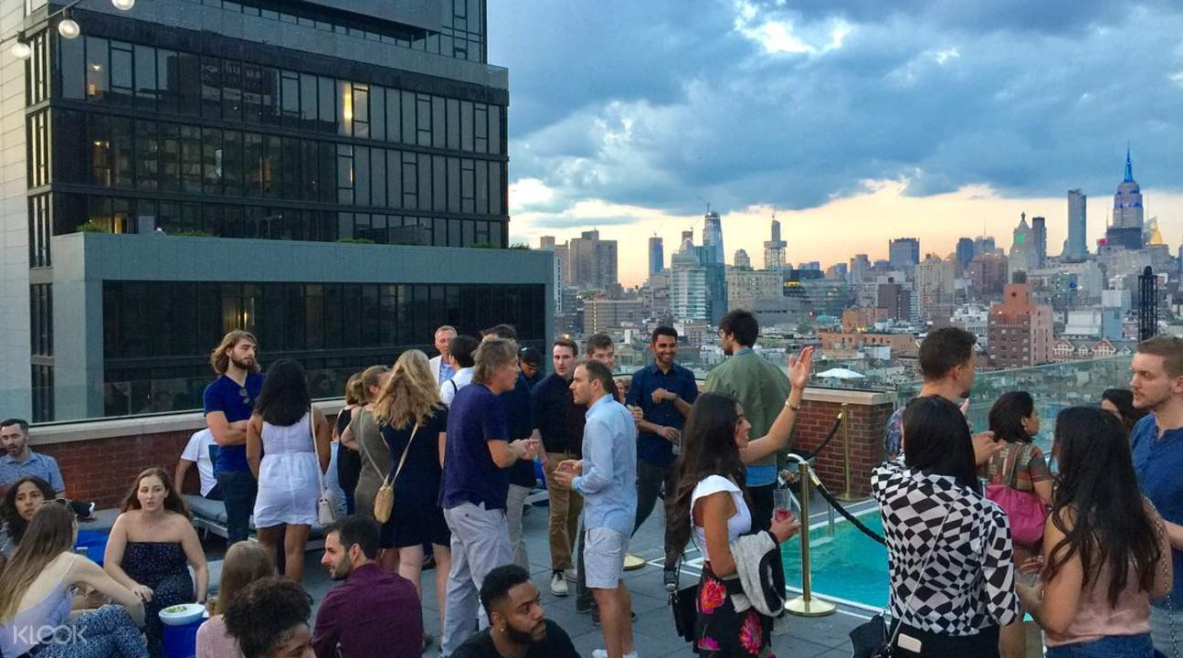 Rooftop lounge in New York