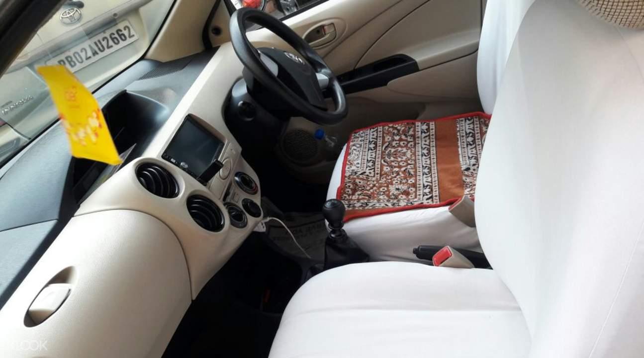 Front interior of private service car