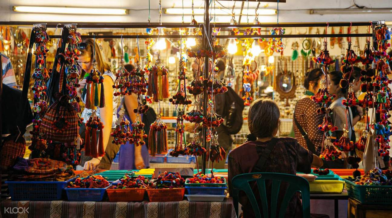 shop with souvenirs in krabi night market