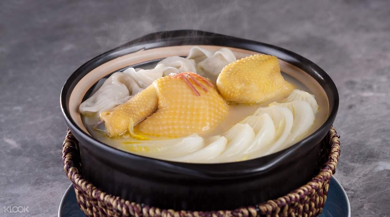 鸡肉清炖虾饺