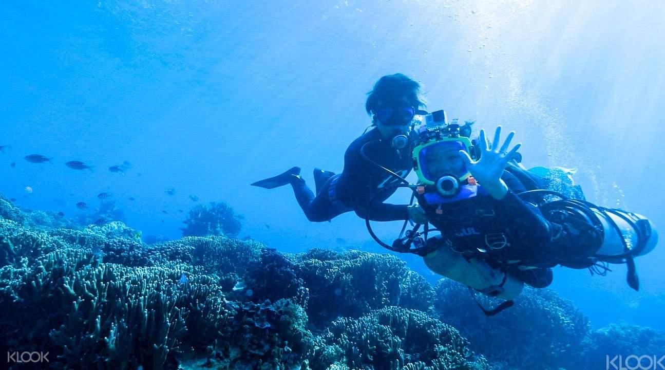 'Slow' scuba diving Okinawa