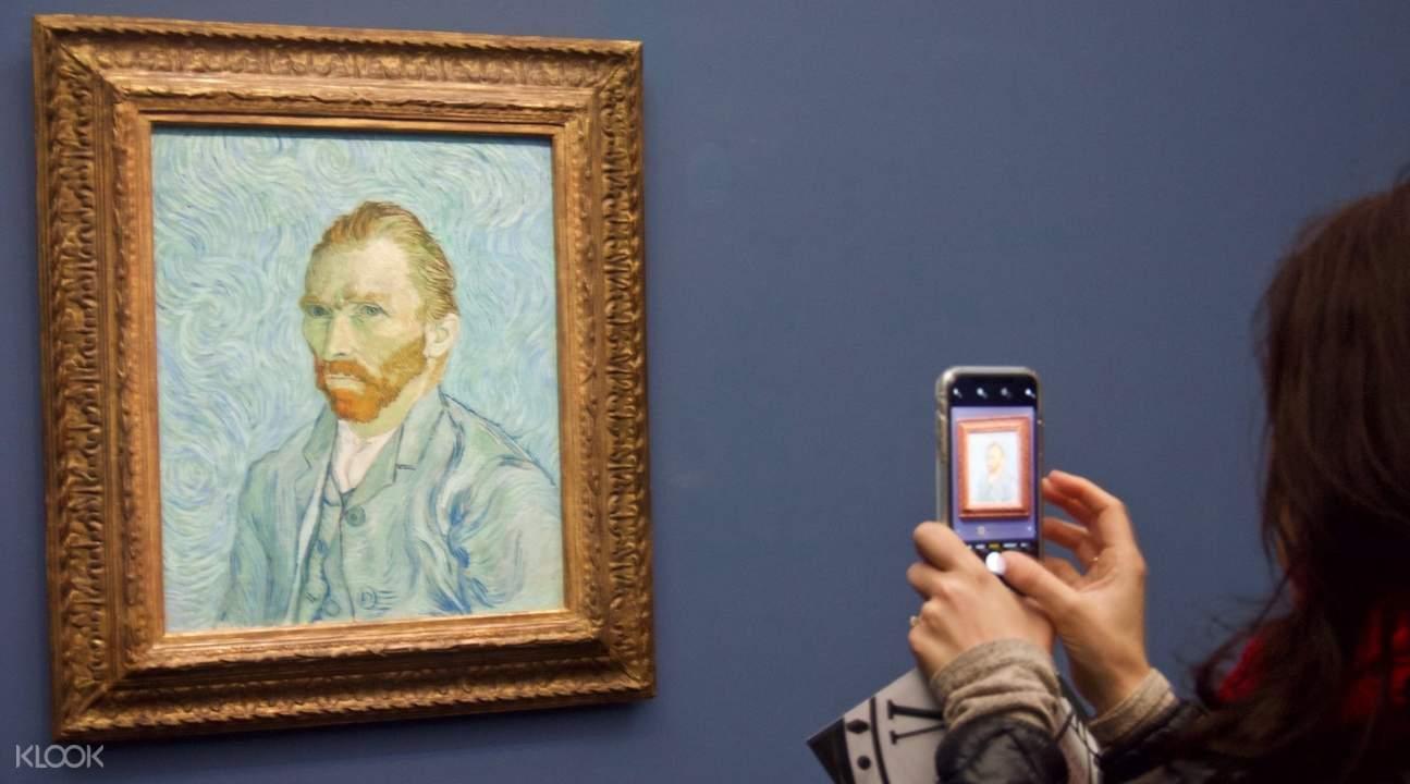 梵谷自畫像,奧賽美術館梵谷,巴黎市區景點推薦,法國巴黎自由行,奧賽美術館開放時間