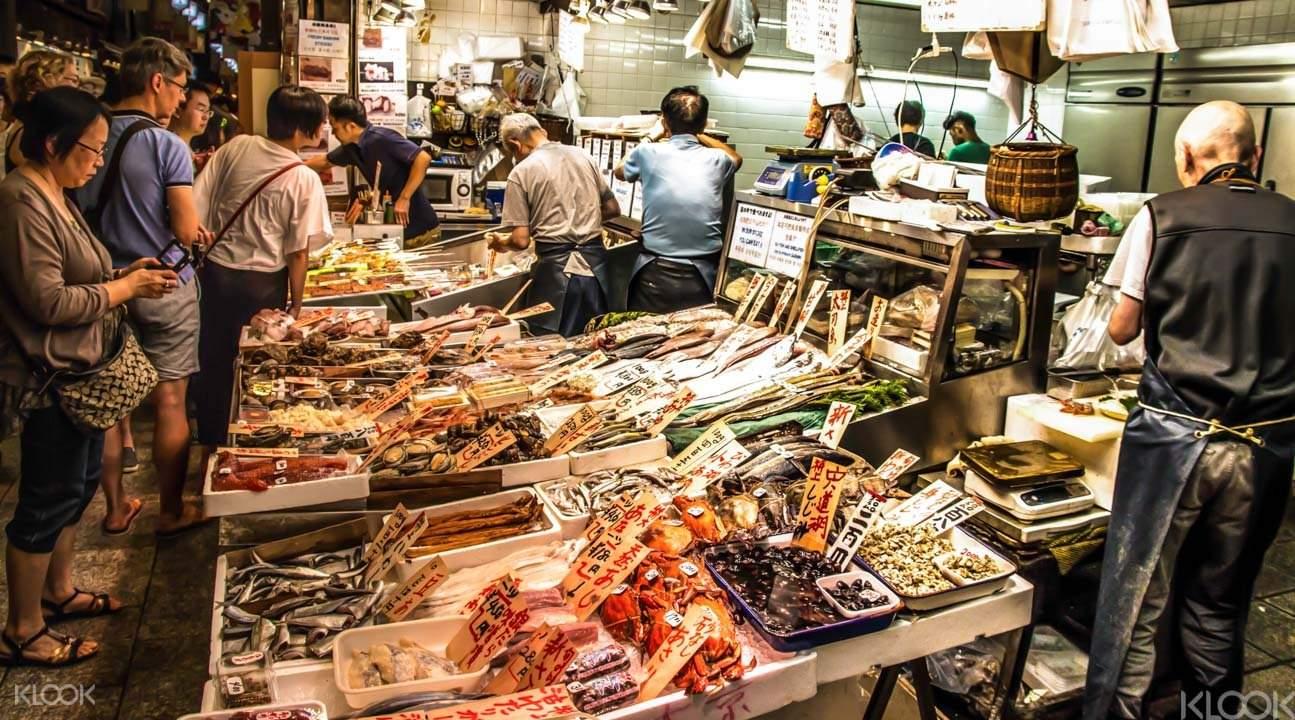 Seafood at Nishiki Market