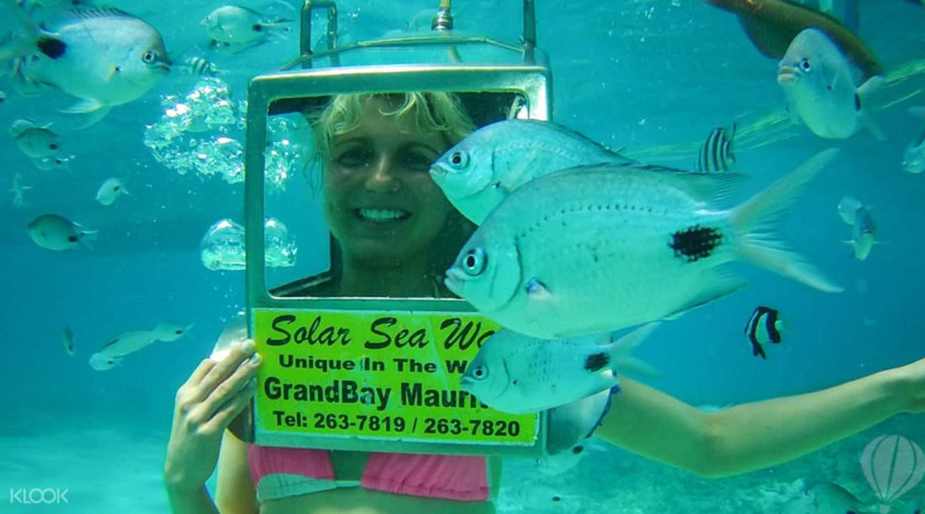 Sea walk in Mauritius