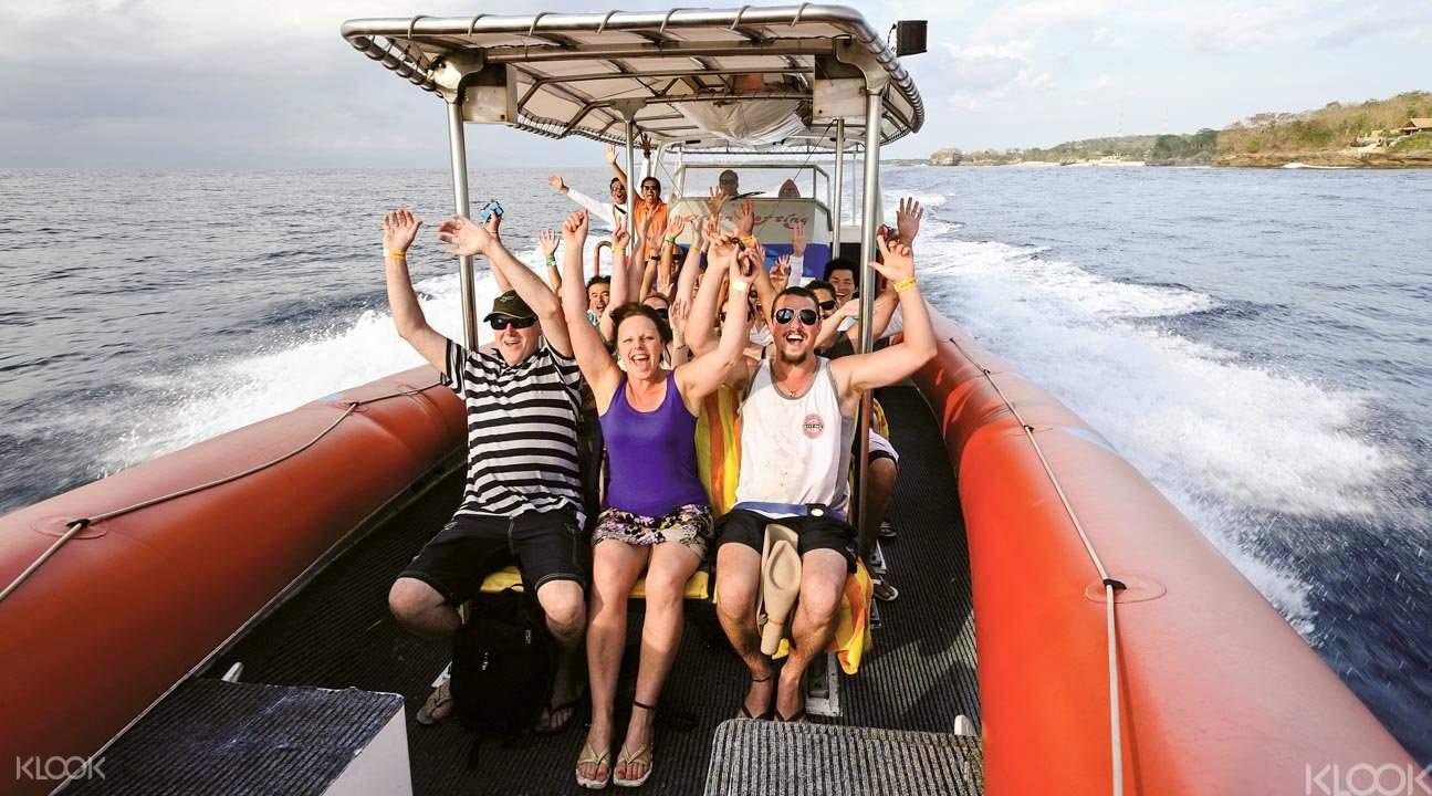 High speed ocean rafting cruise Bali