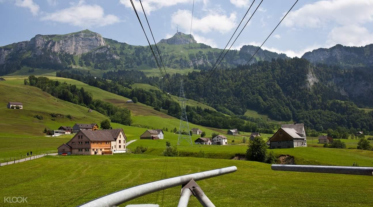mountains cheese and chocolate tour zurich, appenzell tour, hoher kasten switzerland