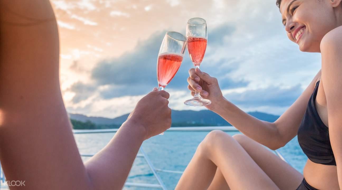 andaman sunset champagne