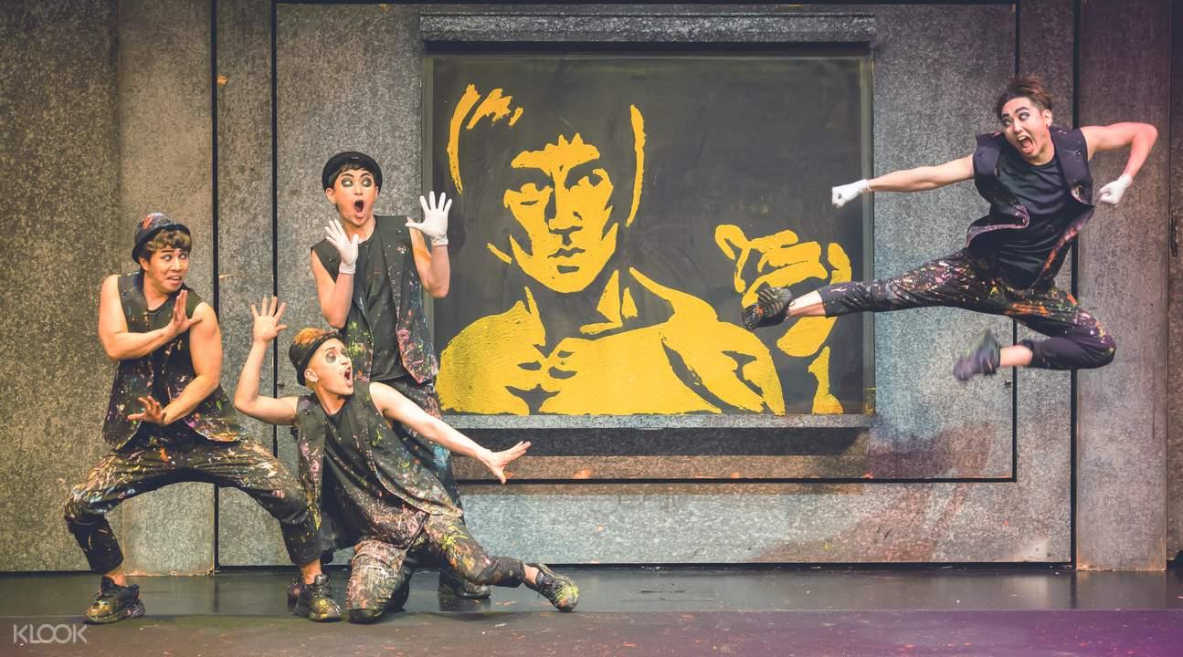 首爾英雄塗鴉表演