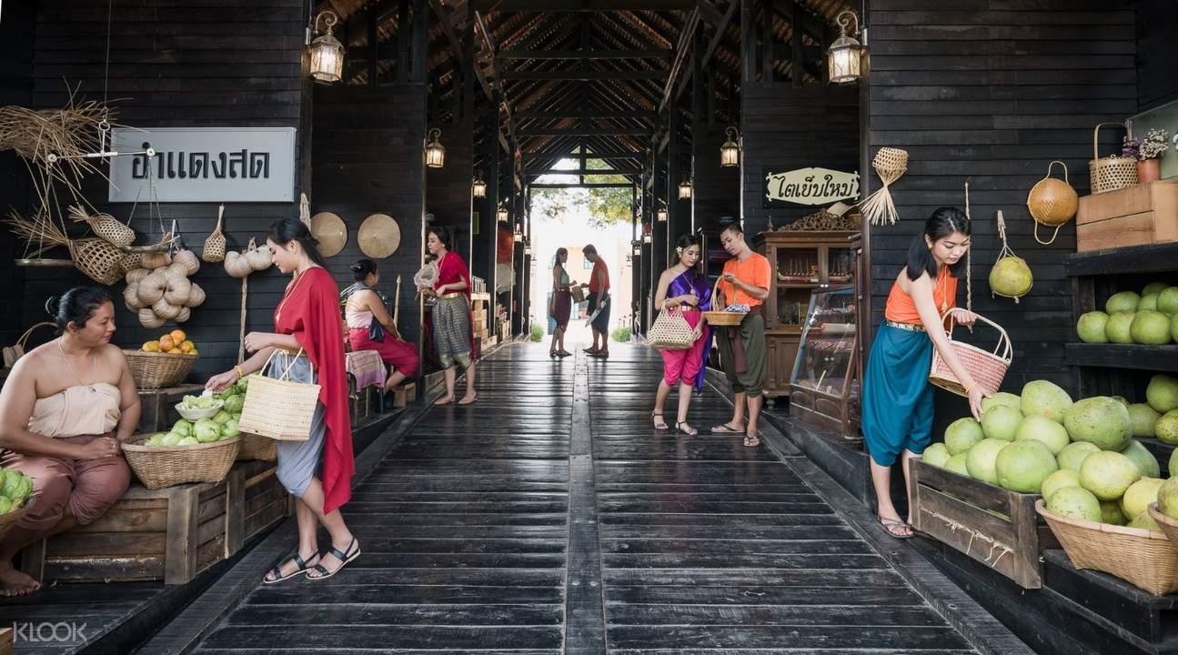 ancient market zone in mallika