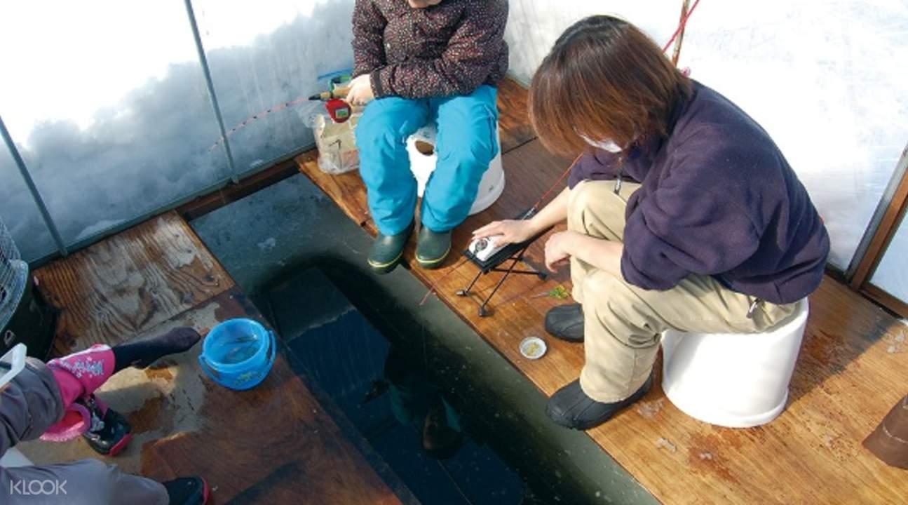 smelt ice fishing hokkaido japan
