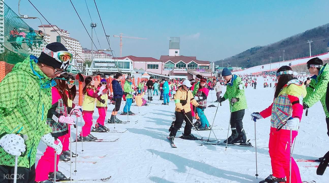 ski lesson daemyung vivaldi park ski world