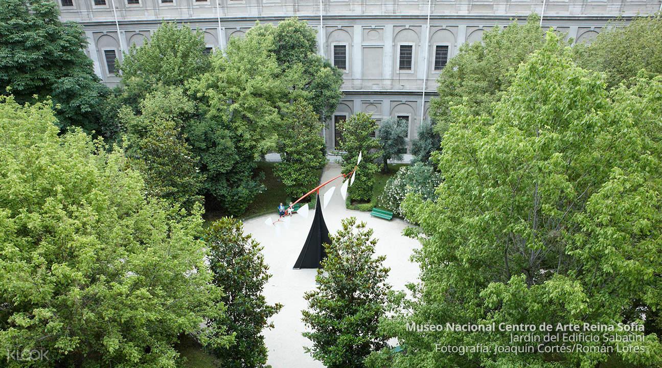 outside art installation of reina sofia museum