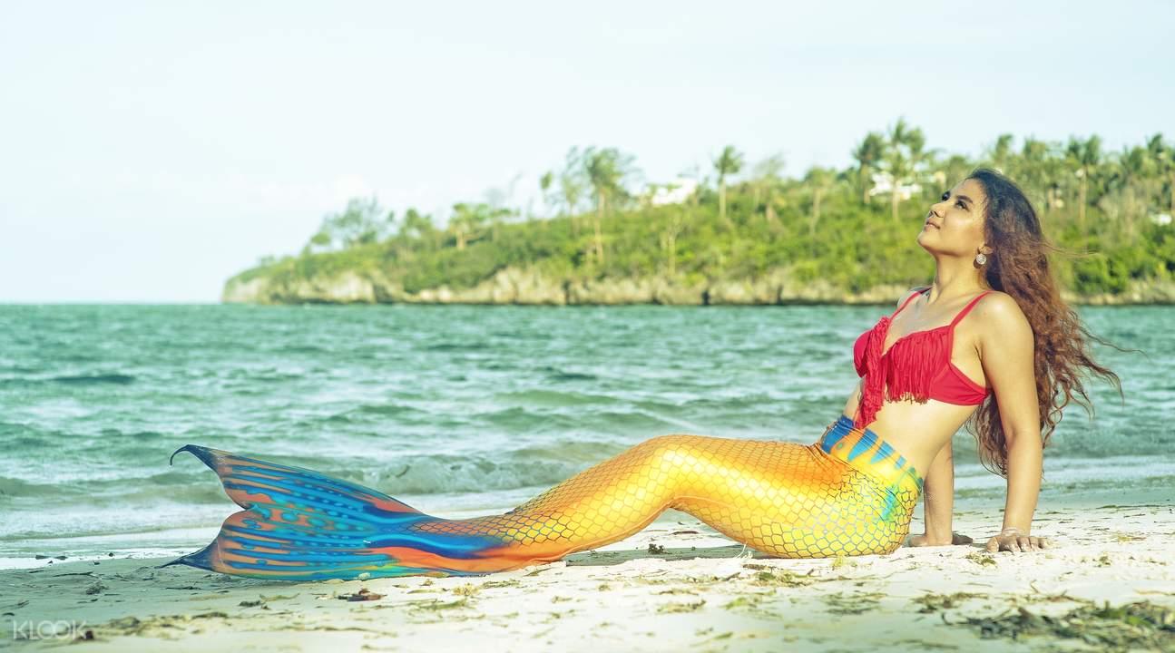 美人鱼游泳装摄影