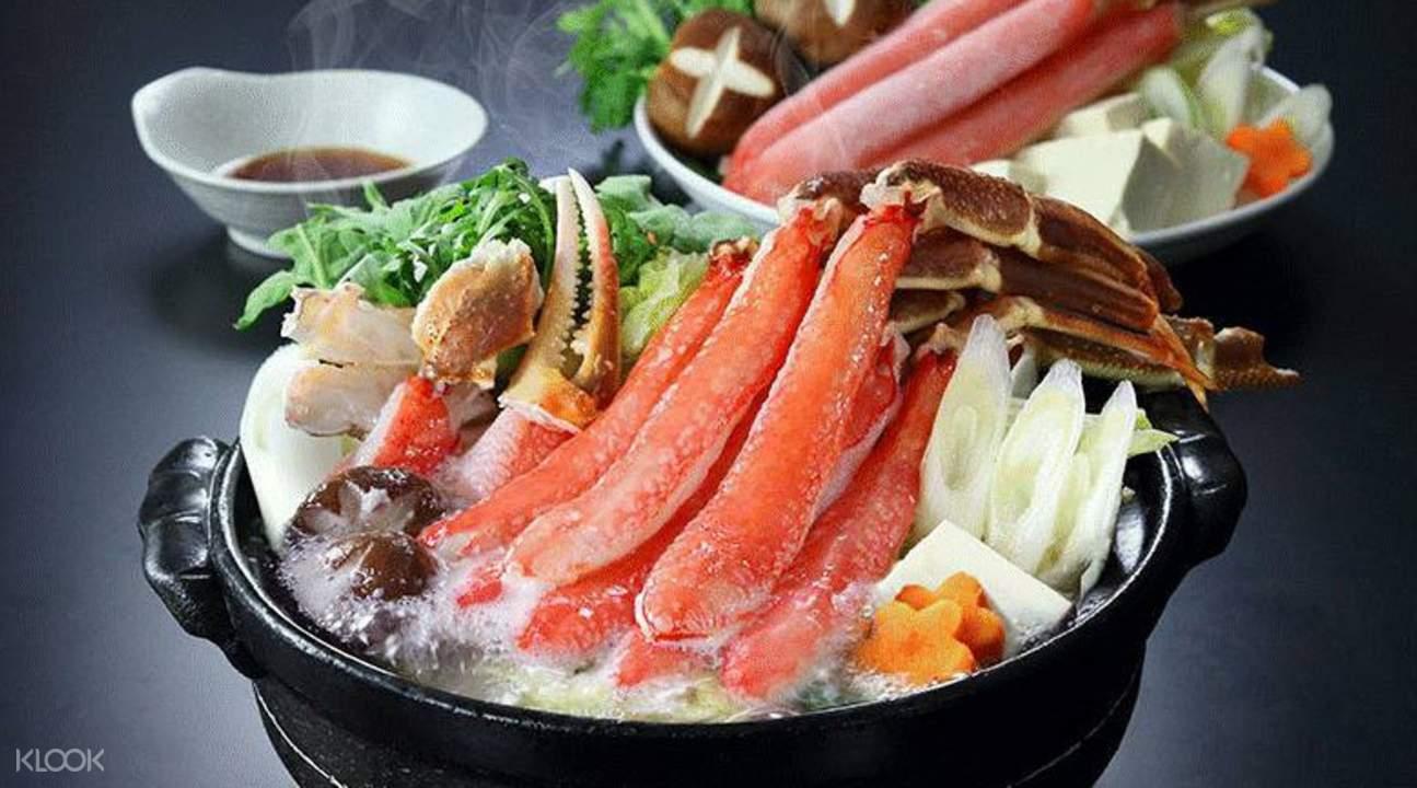 crab hot pot yui umeda osaka japan
