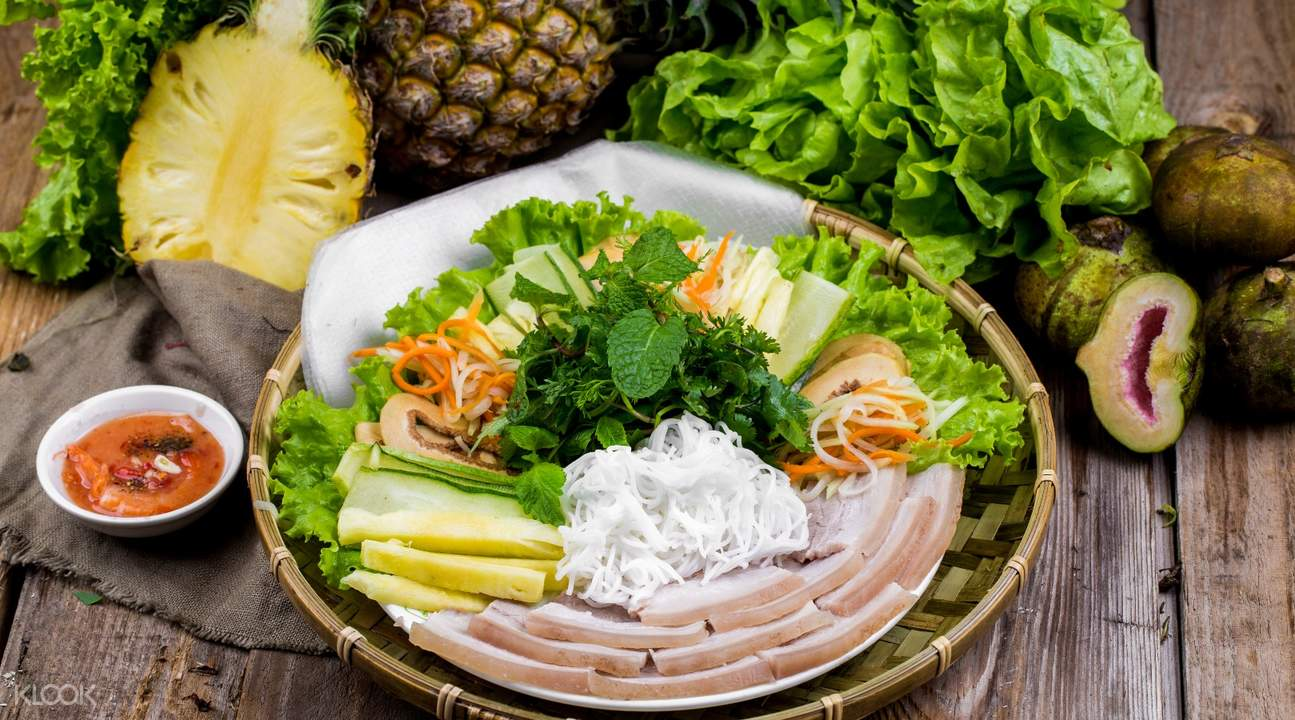 越南美食 會安豬肉米餅越南春捲