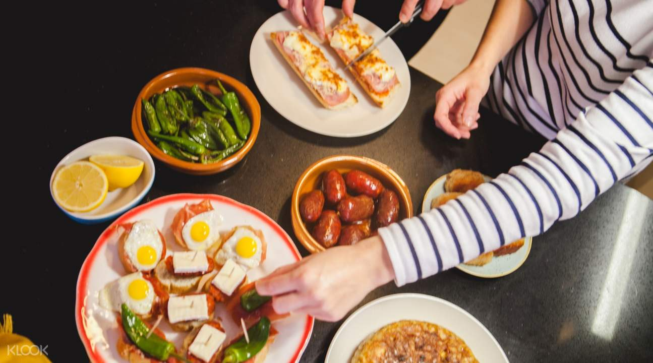 Homemade Tapas Feast in Madrid, Spain tapas