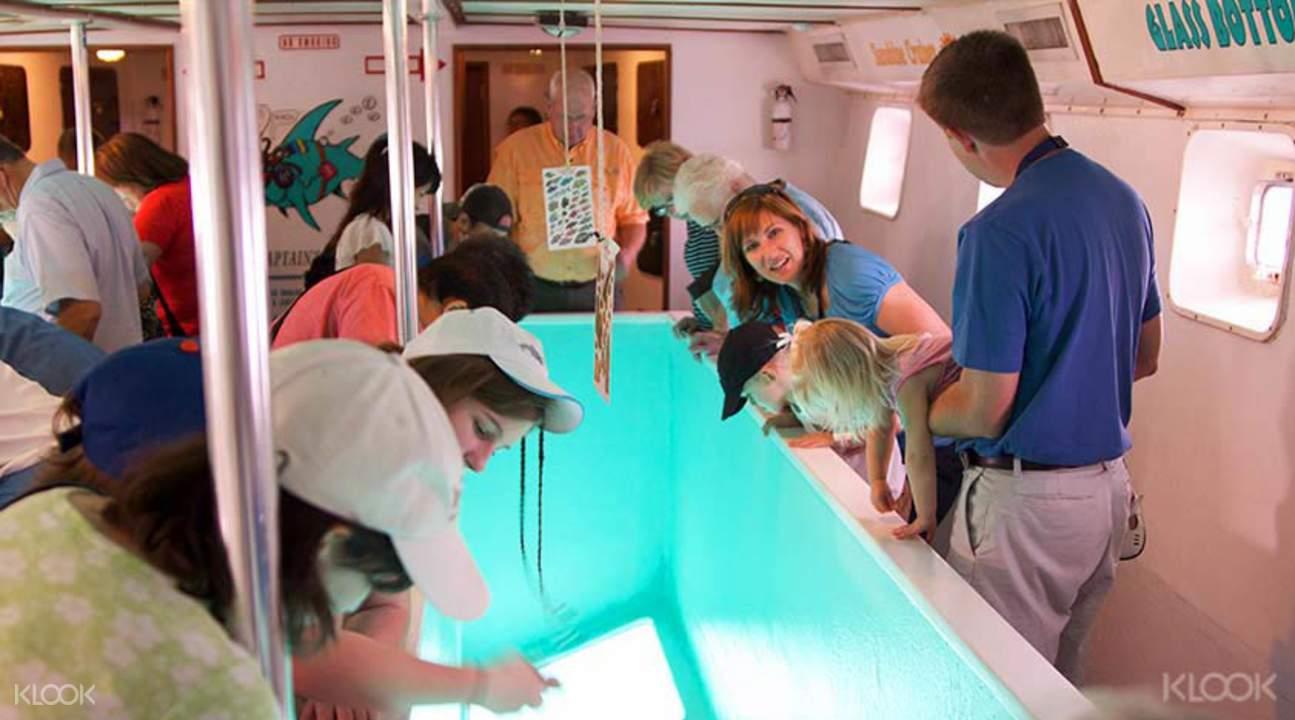 蓝湾坐玻璃船