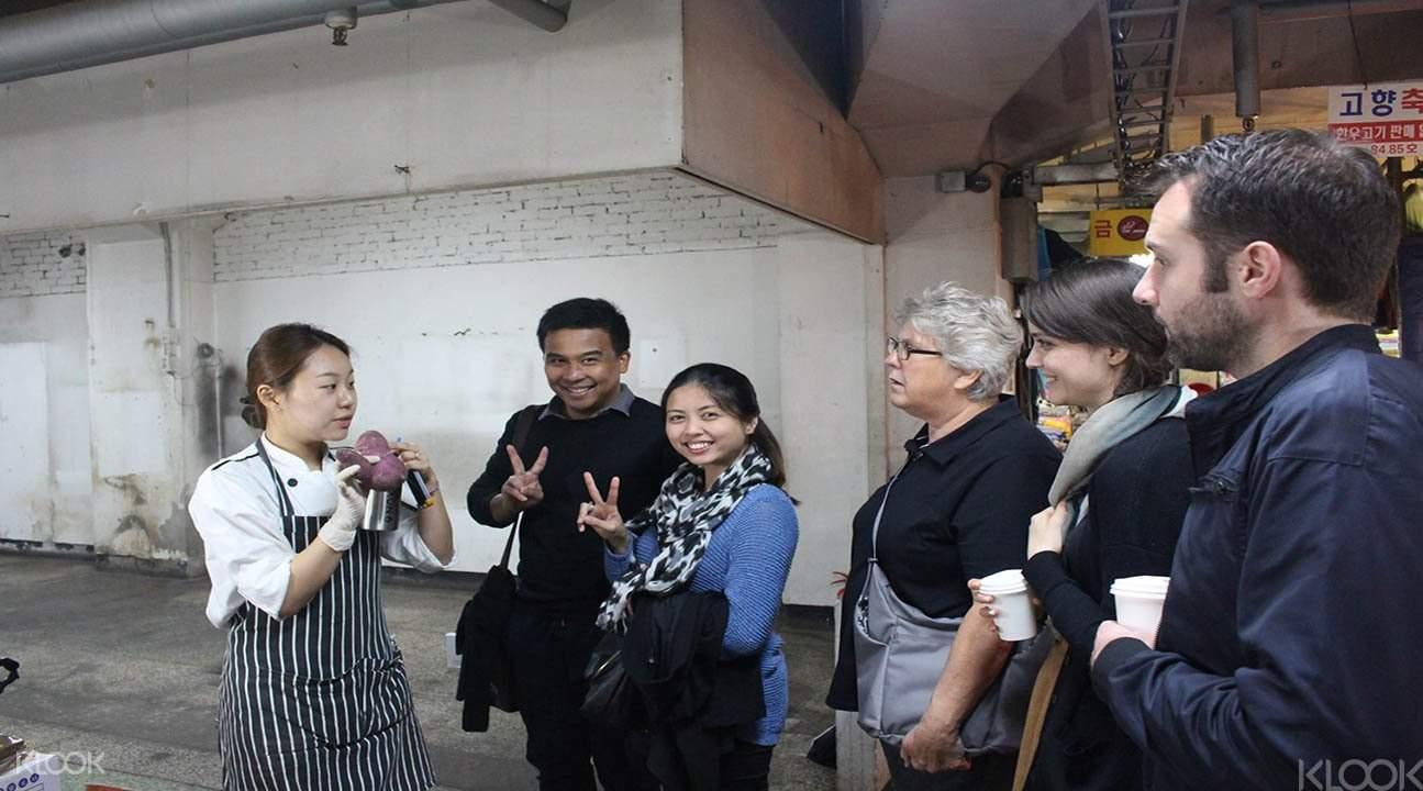 Korean cooking market tour