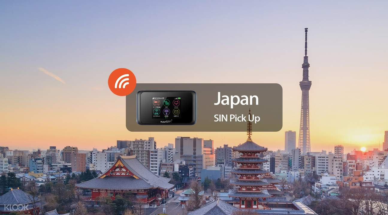 4G WiFi (SIN Pick Up) for Japan