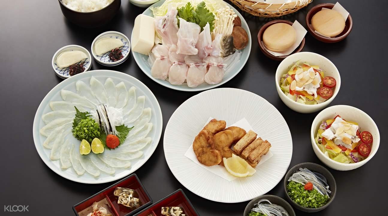 Tora-fugu Tei set meal
