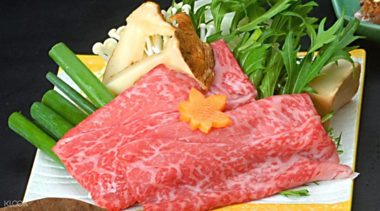 plate of Matsusaka beef with vegetables