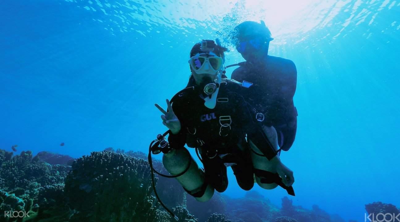 冲绳青洞潜水1