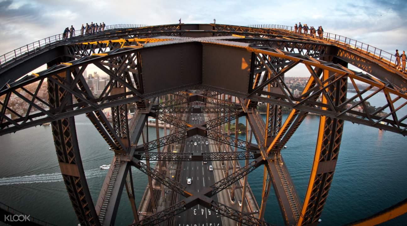 sydney harbour bridge birds eye view