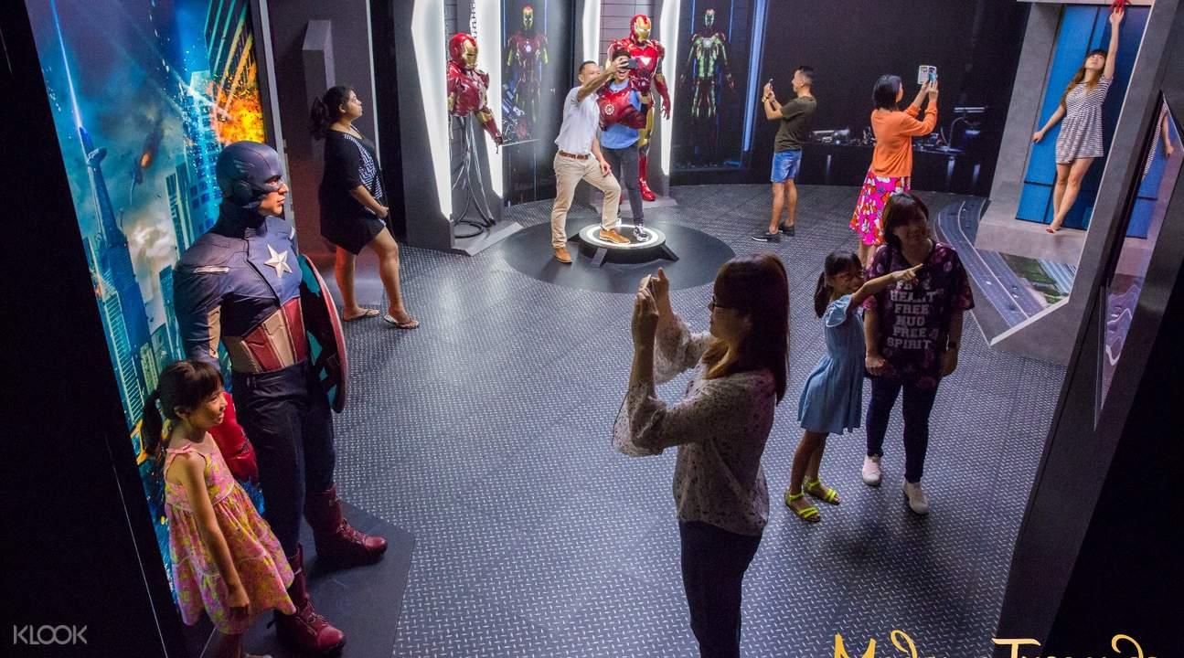 marvel exhibit in madame tussauds singapore