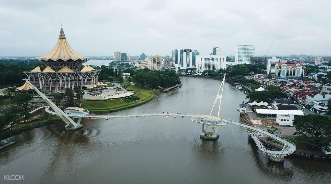 古晋市区砂拉越河半日游,砂拉猫博物馆,砂拉越市清真寺,越马来西亚古晋半日游