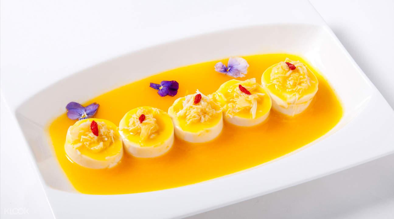 Soya Bean Curd with Crab Meat in Yellow Gravy wan he lou jalan besar singapore