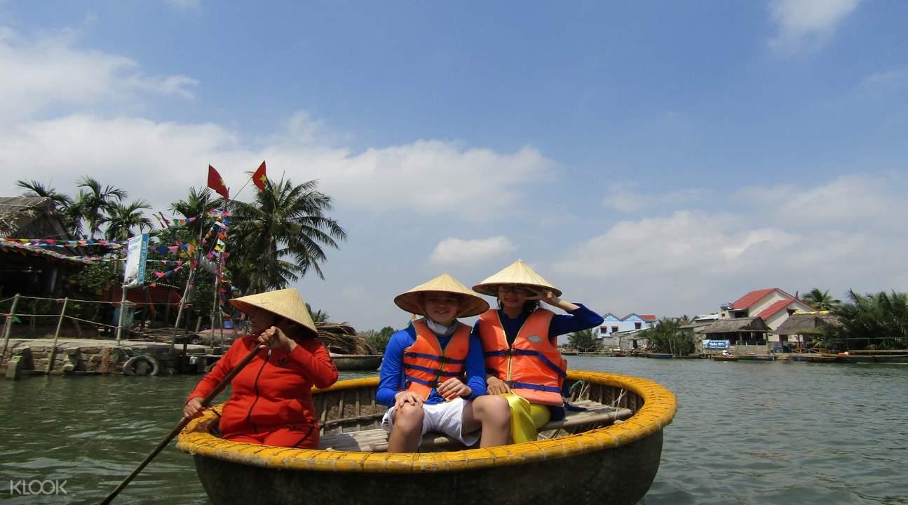 basket boat ride coconut forest