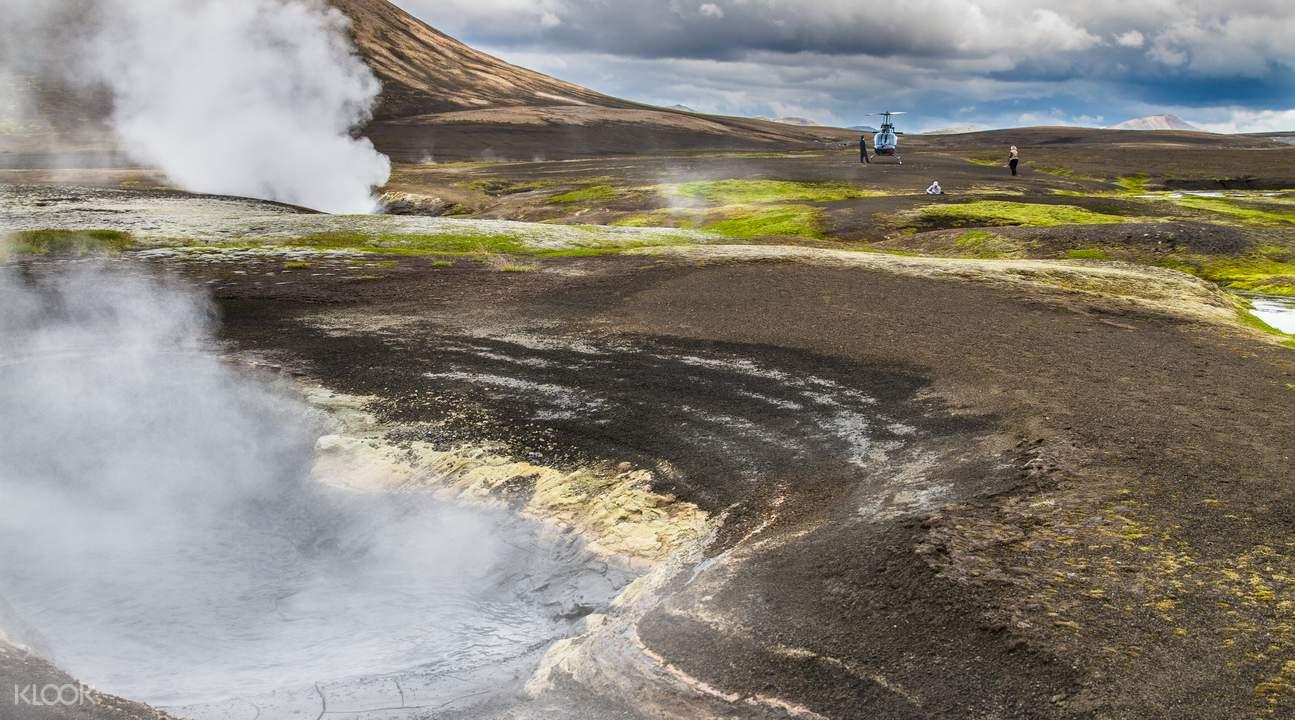 geothermal helicopter tour reykjavik