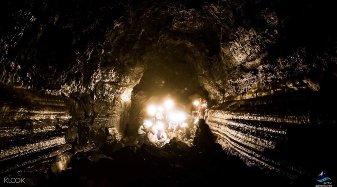 lava cave tour inceland