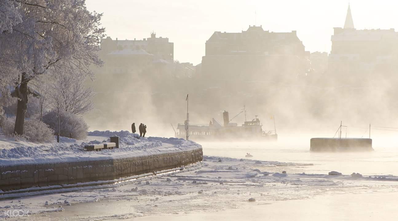 Fjäderholmarna in winter,斯德哥尔摩冬季观光导览之旅,斯德哥尔摩冬季观光,斯德哥尔摩观光导览